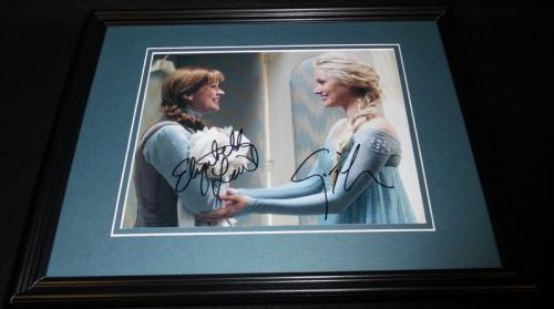 Once Upon a Time Frozen Cast Signed Framed 8x10 Photo AW E Lail & G Haig