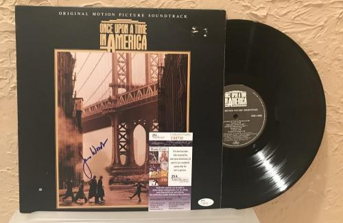 Once Upon A Time In America James Woods Signed Autographed Vinyl  Record Jsa T88