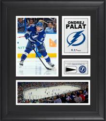 """Ondrej Palat Tampa Bay Lightning Framed 15"""" x 17"""" Collage with Piece of Game-Used Puck"""