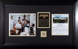 ONE FLEW OVER CUCKOOS NEST (CAST) FRAMED PHOTO w/HLYWD SIGN