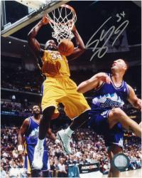 """Shaquille O'Neal Los Angeles Lakers Autographed 8"""" x 10"""" Dunk Photograph"""