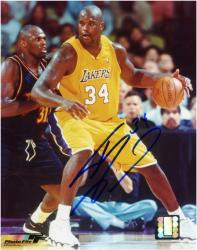 "Shaquille O'Neal Los Angeles Lakers Autographed 8"" x 10"" vs Denver Nuggets Photograph"