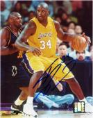 Shaquille O'Neal Los Angeles Lakers Autographed 8'' x 10'' vs Denver Nuggets Photograph - Mounted Memories