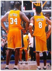 "Los Angeles Lakers Shaquille O'Neal Autographed 30"" x 40"" Photo - Mounted Memories"