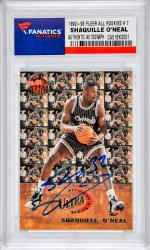 Shaquille O'Neal Orlando Magic Autographed 1992-93 Fleer #7 All-Rookie Card