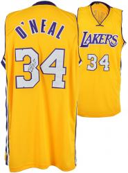Shaquille O'Neal Los Angeles Lakers Autographed Custom Gold Jersey