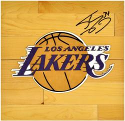 "Shaquille O'Neal Los Angeles Lakers Autographed 12"" x 12"" Floor Piece"