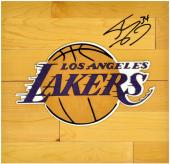 Shaquille O' Neal Los Angeles Lakers Autographed 12'' x 12'' Floor Piece - Mounted Memories