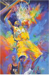 Shaquille O'Neal Original Artwork with Malcolm Farley Signature