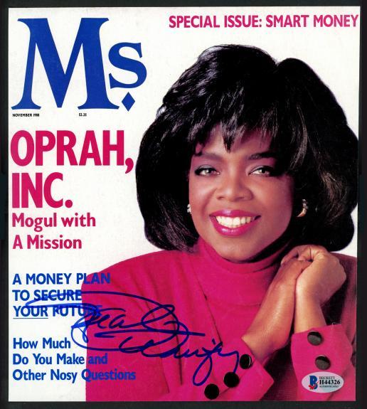 Oprah Winfrey Autographed Magazine Cover TV Beckett BAS #H44326