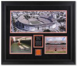 Orange Bowl Stadium Framed Mini Panoramic Photograph with Locker Room Concrete Piece
