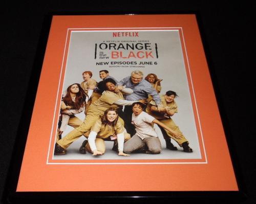 Orange is the New Black 2014 Netflix 11x14 Framed ORIGINAL Advertisement