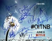 Orange Is The New Black Cast (13) Signed 11X14 Photo PSA/DNA #Y07991