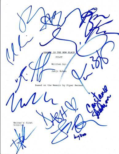 ORANGE IS THE NEW BLACK Full Cast Signed Autographed Pilot Script by 12 COA VD