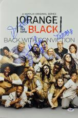 Orange Is The New Black (Taylor Schilling, +3) Signed 12x18 PSA/DNA #AB10808