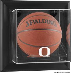 Oregon Ducks Black Framed Wall-Mountable Basketball Display Case