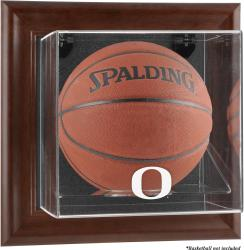 Oregon Ducks Brown Framed Wall-Mountable Basketball Display Case