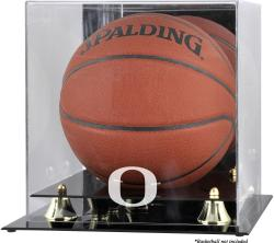 Oregon Ducks Golden Classic Logo Basketball Display Case with Mirror Back