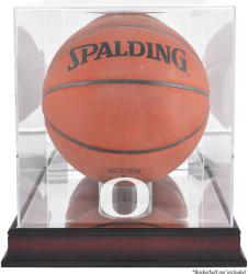 Oregon Ducks Mahogany Antique Finish Basketball Display Case with Mirror Back