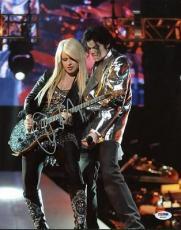 Orianthi Signed 11x14 Photo W/ Michael Jackson Psa/dna #w46361