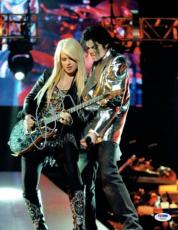 Orianthi w/ Michael Jackson Signed Authentic Auto 11x14 Photo PSA/DNA #W46360