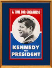 Original 1960 John F. Kennedy Presidential Campaign Poster. DNC. Large Size