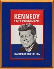 Original 1960 John F. Kennedy Presidential Campaign Poster, JFK