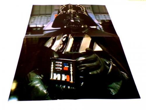 "ORIGINAL 1984 Starlog Darth Vader / James Bond 16x21"" Double Sided Poster"