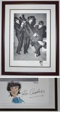 "Original Drawing Signed - Autographed by Artist Ron Campbell of Ringo Starr and ""The Beatles at Play 1964"" Limited Edition Giclee Lithograph - Black FRAME - Custom FRAMED - Guaranteed to pass PSA or JSA"