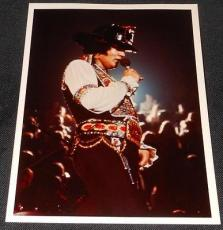 ORIGINAL Type I 1975 Elvis Presley at Nassau Coliseum 5x7 Candid Photograph 614