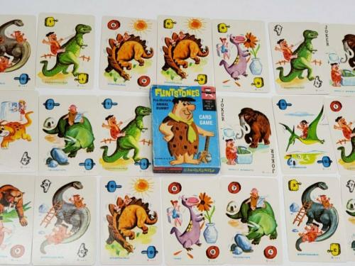 ORIGINAL Vintage 1961 Flintstones Prehistoric Animal Rummy Playing Card Game