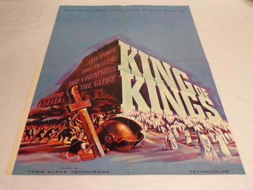 "ORIGINAL Vintage 1961 King of Kings 17x24"" Industry Poster Ad Jeffrey Hunter"