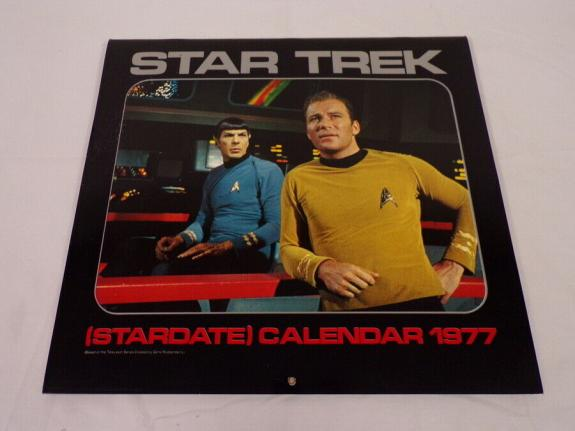 ORIGINAL Vintage 1977 Star Trek Stardate Calendar William Shatner Leonary Nimoy