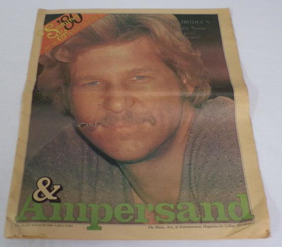 ORIGINAL Vintage 1980 Ampersand Magazine Jeff Bridges w/ Blues Brothers Poster