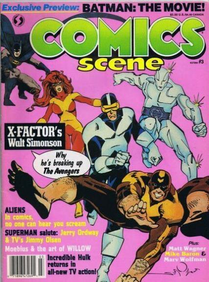 ORIGINAL Vintage 1987 Comics Scene Magazine #3 X Factor Batman Movie
