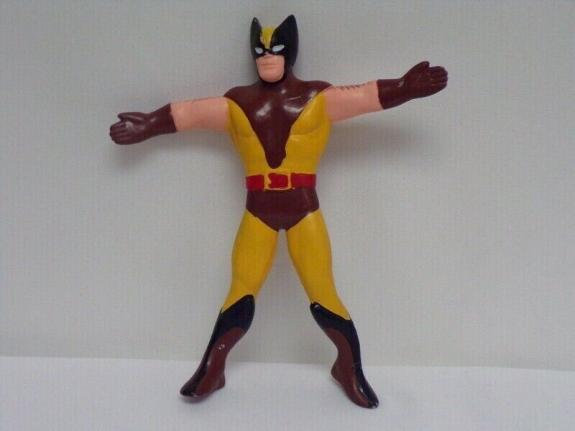 ORIGINAL Vintage 1989 Marvel Just Toys X Men Wolverine Bendy Action Figure