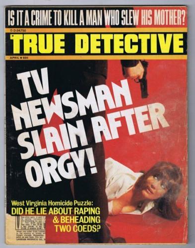 ORIGINAL Vintage April 1977 True Detective Magazine GGA