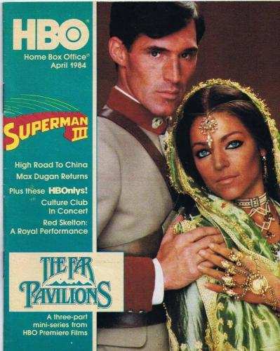 ORIGINAL Vintage April 1984 HBO Magazine Far Pavilions Superman III Culture Club