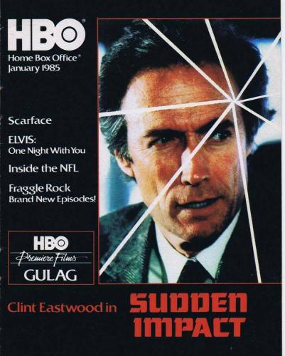 ORIGINAL Vintage January 1985 HBO Magazine Clint Eastwood Sudden Impact