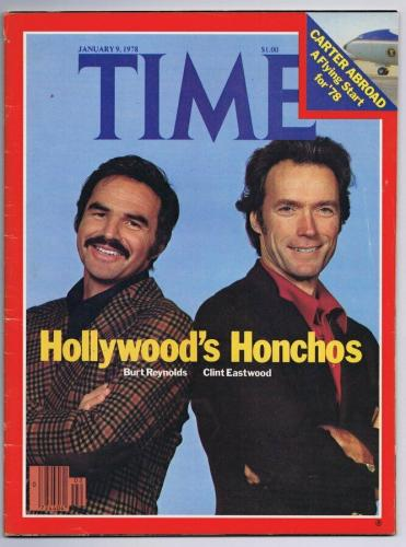 ORIGINAL Vintage January 9 1978 Time Magazine Clint Eastwood Burt Reynolds
