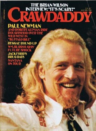ORIGINAL Vintage July 1976 Crawdaddy Magazine Brian Wilson Paul Newman