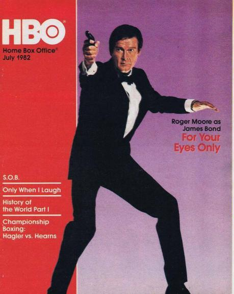 ORIGINAL Vintage July 1982 HBO Magazine For Your Eyes Only James Bond R Moore