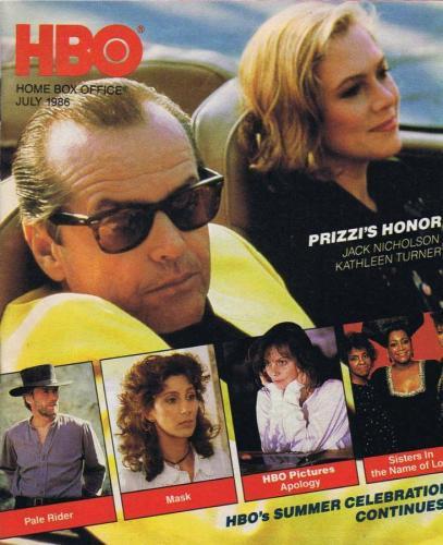 ORIGINAL Vintage July 1986 HBO Magazine Prizzi's Honor Jack Nicholson Mask