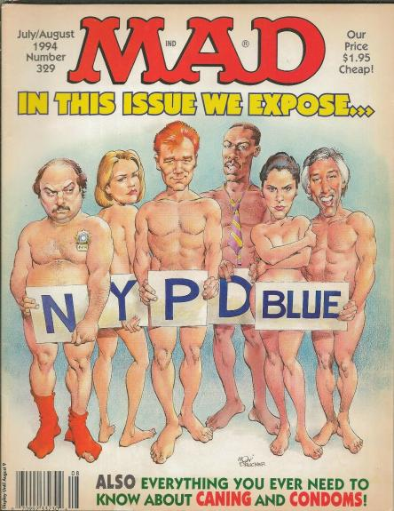 ORIGINAL Vintage July 1994 Mad Magazine #329 NYPD Blue David Caruso Dennis Franz
