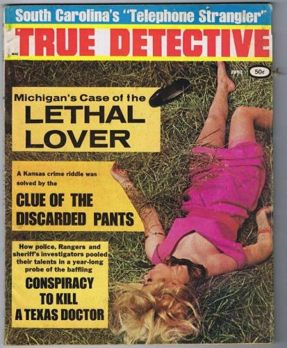 ORIGINAL Vintage June 1968 True Detective Magazine GGA