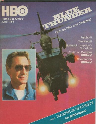 ORIGINAL Vintage June 1984 HBO Guide Magazine Blue Thunder Octopussy James Bond