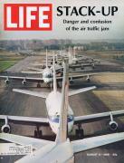 ORIGINAL Vintage Life Magazine August 9 1968 Air Traffic Jam