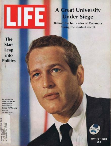 ORIGINAL Vintage Life Magazine May 10 1968 Paul Newman
