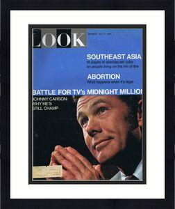 ORIGINAL Vintage Look Magazine July 11 1967 Johnny Carson