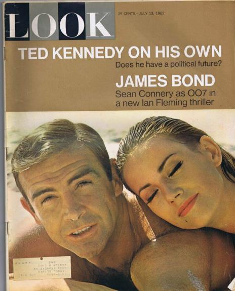 ORIGINAL Vintage Look Magazine July 13 1965 Sean Connery James Bond